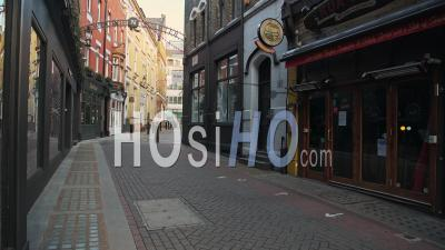 Empty London Streets During Coronavirus Lockdown, Showing Quiet And Deserted Carnaby Street Roads In A Popular Tourist Area In The Global Pandemic Covid-19 Shutdown In England, Europe