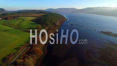 Aerial View Of The Dornoch Firth Sutherland Ecosse, Royaume-Uni - Video Drone Footage