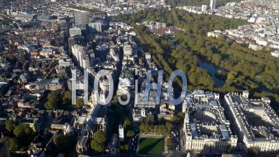 Victoria, Buckingham Palace, And Mayfair, London, Filmed By Helicopter