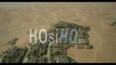 Qasr Hotel In Liwah Desert - Video Drone Footage