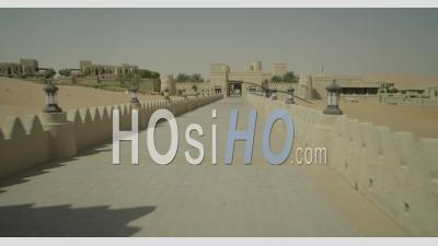 Luxury Hotel In Desert - Video Drone Footage
