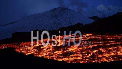 Eruption Of The Tolbachik Volcano In Kamtchatka, East Of Russia