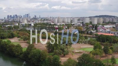 Nanterre City - Suburb Of Paris - Video Drone Footage
