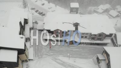 Deserted Ski Resort In France - Video Drone Footage