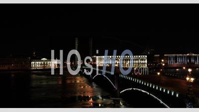 Trinity Bridge, Saint Petersburg - Video Drone Footage