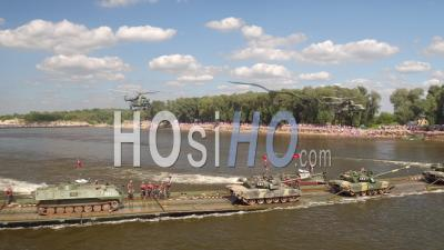 Russian Army Helicopters - Video Drone Footage