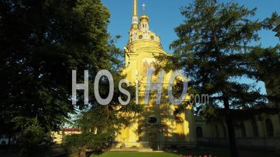Cathédrale Saints Pierre Et Paul, Saint-Pétersbourg - Vidéo Par Drone