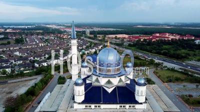 Mosquée Masjid Abdullah Fahim - Vidéo Aérienne Par Drone