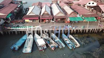 No Tourist Is Come To Chew Jetty Due To Lockdown - Video Drone Footage