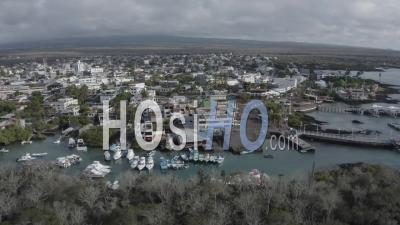 Puerto Ayora In Santa Cruz Island - Video Drone Footage