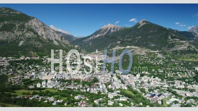 City Of Briançon, Hautes-Alpes France, Filmed By Drone