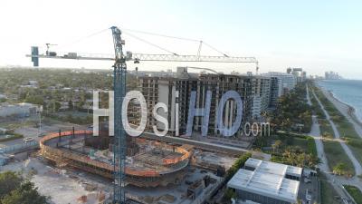 Plage Et Baigneurs à Miami, Usa - Vidéo Par Drone