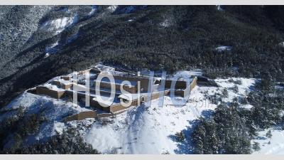 Fort-Dauphin, Unesco World Heritage, Hautes-Alpes, France, Viewed From Drone