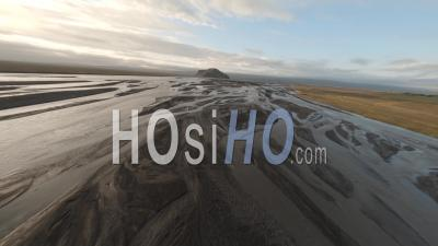 Fpv Drone Over Rivers In Iceland