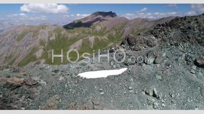 Col Sud Du Cristillan In Queyras, Hautes-Alpes, France, Viewed From Drone