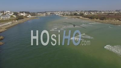 Audierne Goyen River Estuary - Video Drone Footage