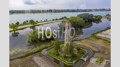 Nancy Brown Peace Carillon On Detroit's Belle Isle - Aerial Photography