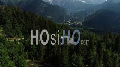 Lac Vert Lac Et Le Mont Blanc - Vidéo Par Drone