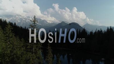 Massif Du Mont Blanc Et Lac - Vidéo Par Drone