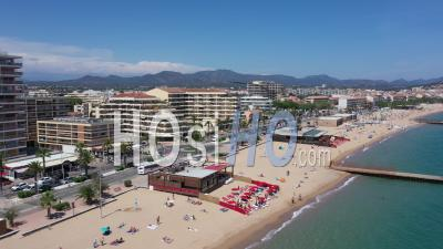 Aerial View Of St Raphael In Var Department - Video Drone Footage