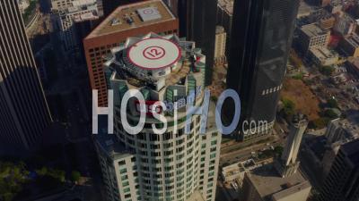 Us Bank Tower, Gratte-Ciel à Los Angeles, Californie, Lumière Du Jour 4k - Vidéo Par Drone