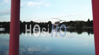 Torii On The Moselle - Metz - Video Drone Footage