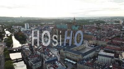 Cathedral Saint-Etienne - Metz - Video Drone Footage