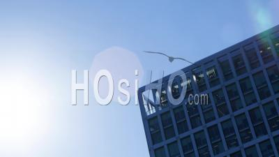 Timelapse Of The Exterior Of An Office Block During The Day