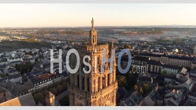 Cathédrale De Rodez, Au Soleil Couchant - Vidéo Drone