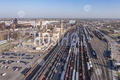 Csx Rail Yard à L'usine Ford Rouge - Photographie Aérienne