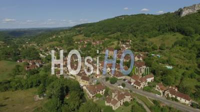 Autoire, One Of The Most Beautiful Villages In France Seen By Drone