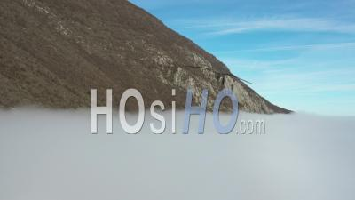 Above Clouds In Vercors Mountains, France - Video Drone Footage