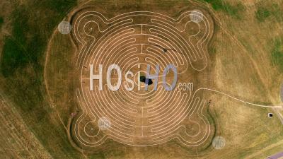 Willen Lake Maze, Milton Keynes - Photo Drone