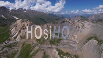 The Col Du Galibier, Hautes-Alpes, France, Viewed From Drone