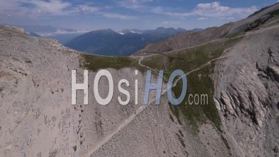 The Col Du Chaberton, Hautes-Alpes, France, Viewed From Drone