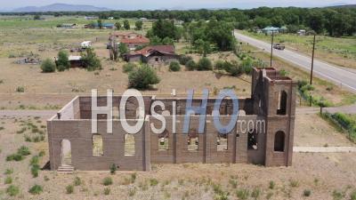 Ruins Of San Isidro Catholic Church - Video Drone Footage