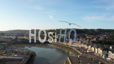 Port And City Of Treport - Video Drone Footage