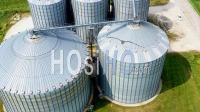 Grain Storage Silos - Video Drone Footage
