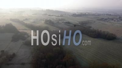 Vignoble Près De Bordeaux En Hiver - Vidéo Drone
