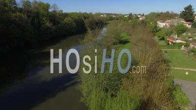 Vouvant, One Of The Most Beautiful Villages In France Drone Seen By The Spring