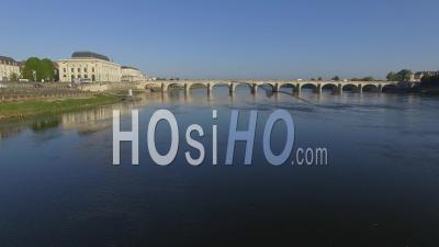 Saumur - Video Drone Footage In The Spring