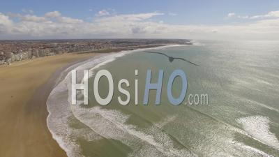 Access To Ports Of Olonne - Video Drone Footage Sables