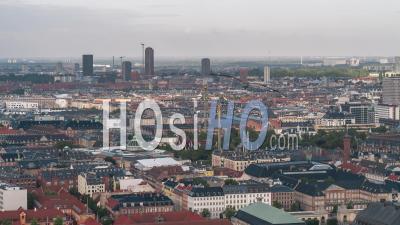 Establishing Aerial View Shot Of Copenhagen, Capital Of The North, Denmark - Video Drone Footage