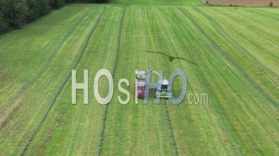 Alfalfa Harvest - Video Drone Footage