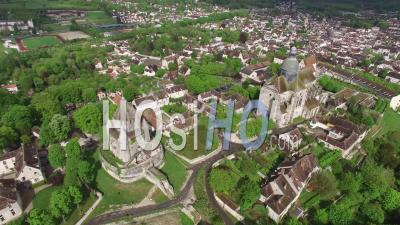 Provins Medieval City - Video Drone Footage