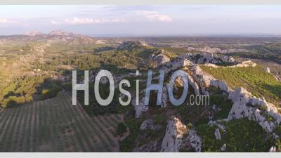 The Alpilles Mountain Range Seen By Drone
