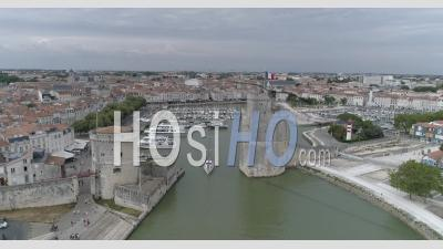 City Of La Rochelle From The Marina, Viewed By Drone