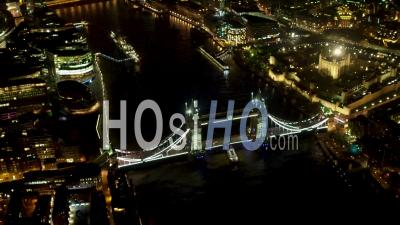 Tower Bridge, Tower Of London, The Shard, City Of London And River Thames At Night, London