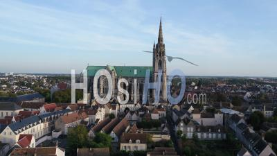 Notre-Dame-De-Chartres Cathedral - Video Drone Footage