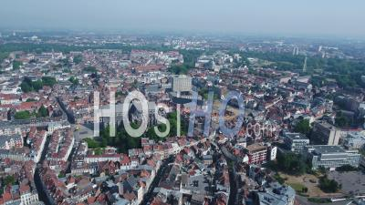 360 Panorama Of Lille From City Center - Video Drone Footage